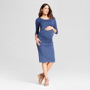 Isabel Maternity 3/4 Sleeve Pleated Dress Sz M